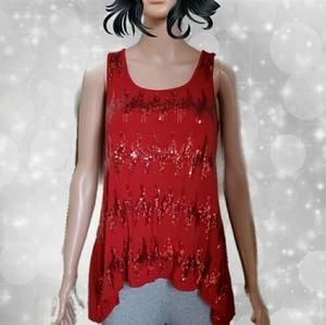 Willi Smith Sequin Sleeveless Shirt perfec…